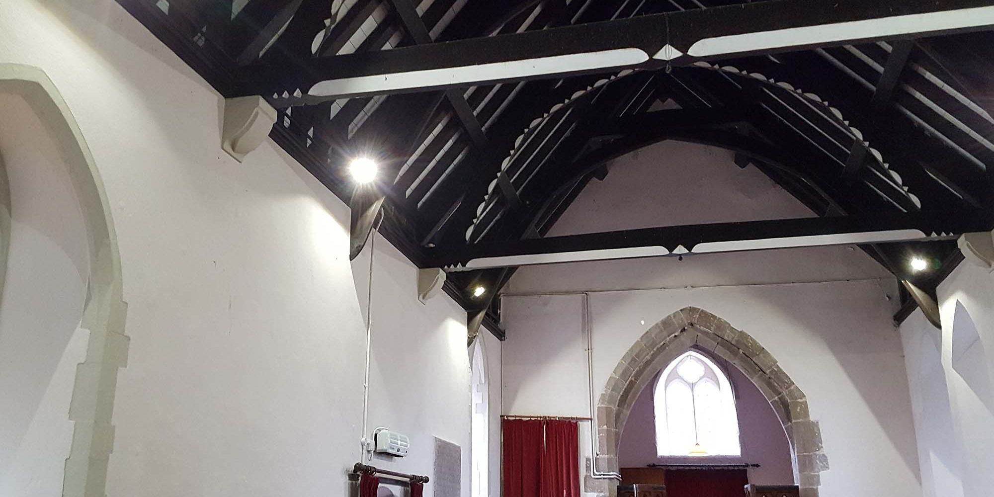 Site response services church lighting installation newport