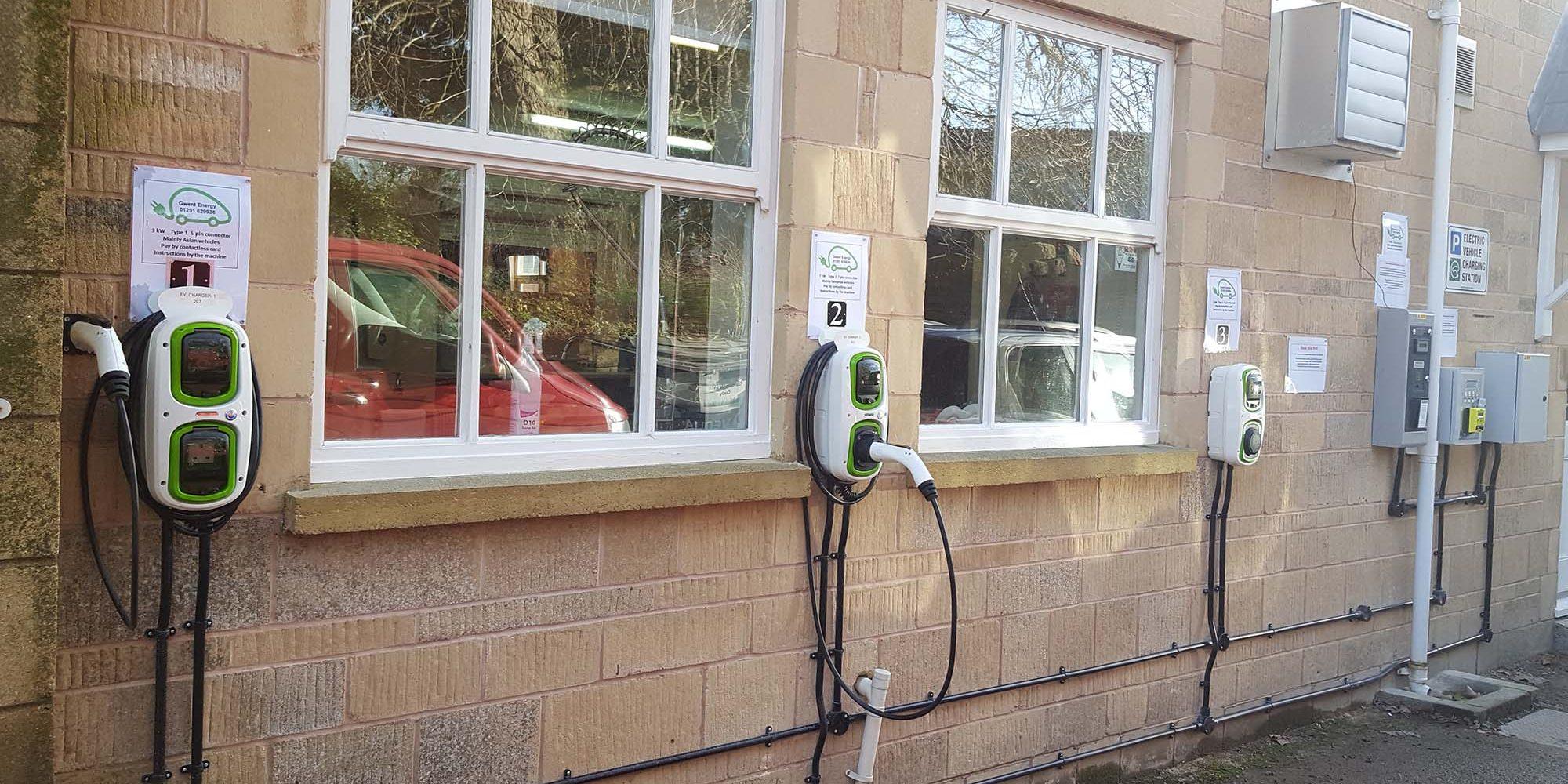 Site response services Electric car charging community centre